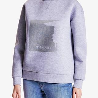 Mikina Trussardi Sweater Neoprene Bicolor Regular Fit Farebná