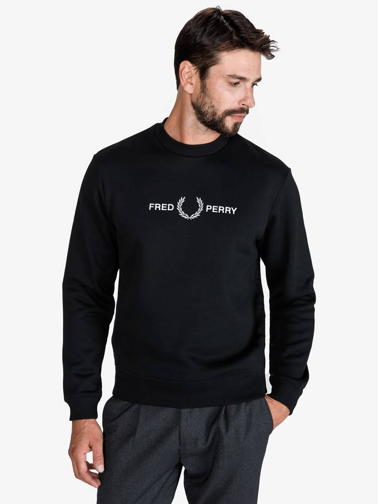 Fred Perry Mikina Fred Perry Čierna