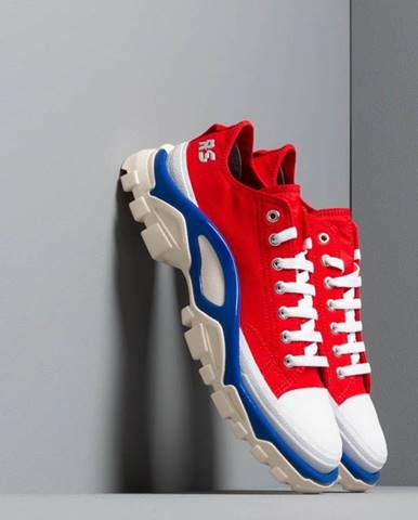adidas x Raf Simons Detroit Runner Red/ Silver Metallic/ Bold Blue